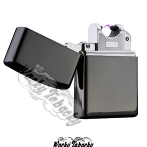Black Electric arc lighter USB chargeable Wacky Tabacky Shop