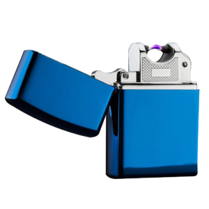 Metallic Blue Electric Pulse Lighter