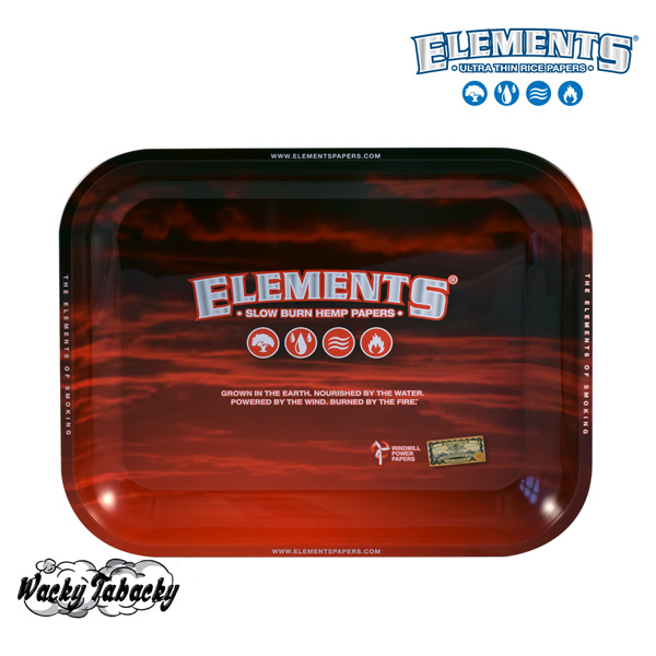 Elements 174 Metal Rolling Tray Red Large Smokers And